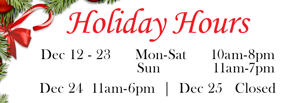 Aquarian Holiday Hours 2016