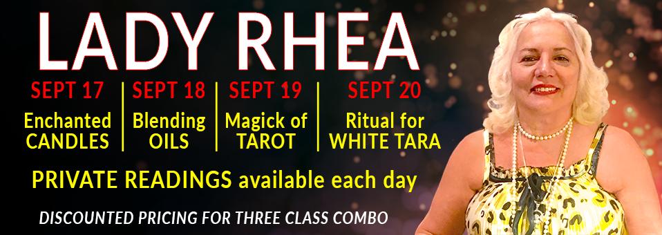 Lady Rhea Witch Queen of New York Tarot Oils Candles White Tara Ritual