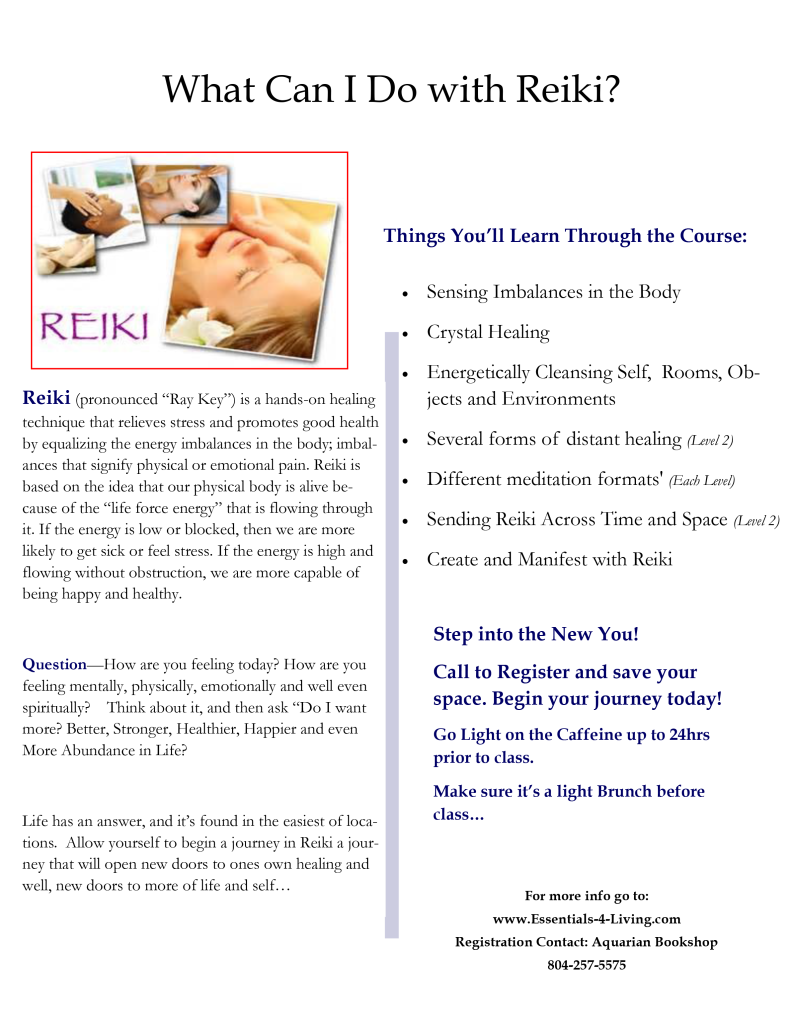 Reiki Level I Certification Course What You'll Learn