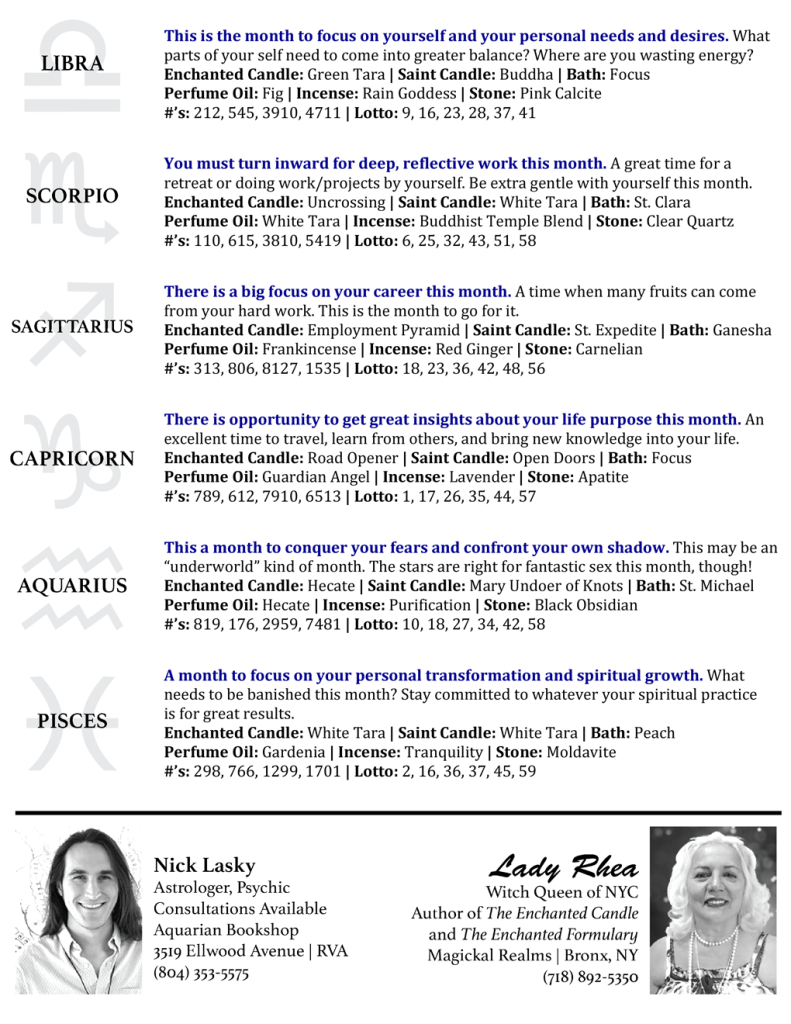 Astro Hot Tips with Nick Lasky & Lady Rhea page 2