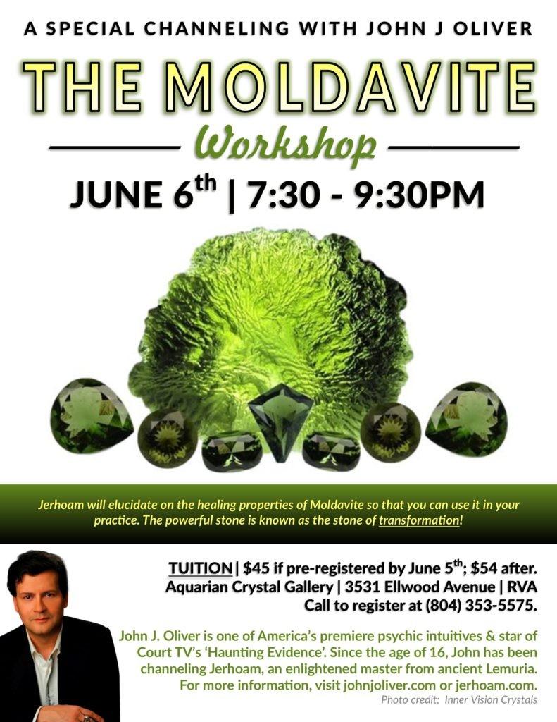 Moldavite Crystal Series with Jerhoam and John J Oliver