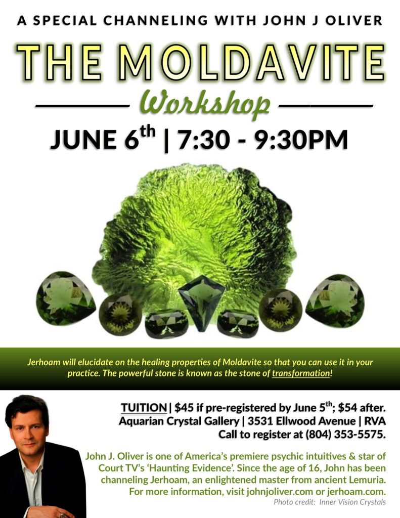 Moldavite Crystal Series with Jerhoam and John J Oliver