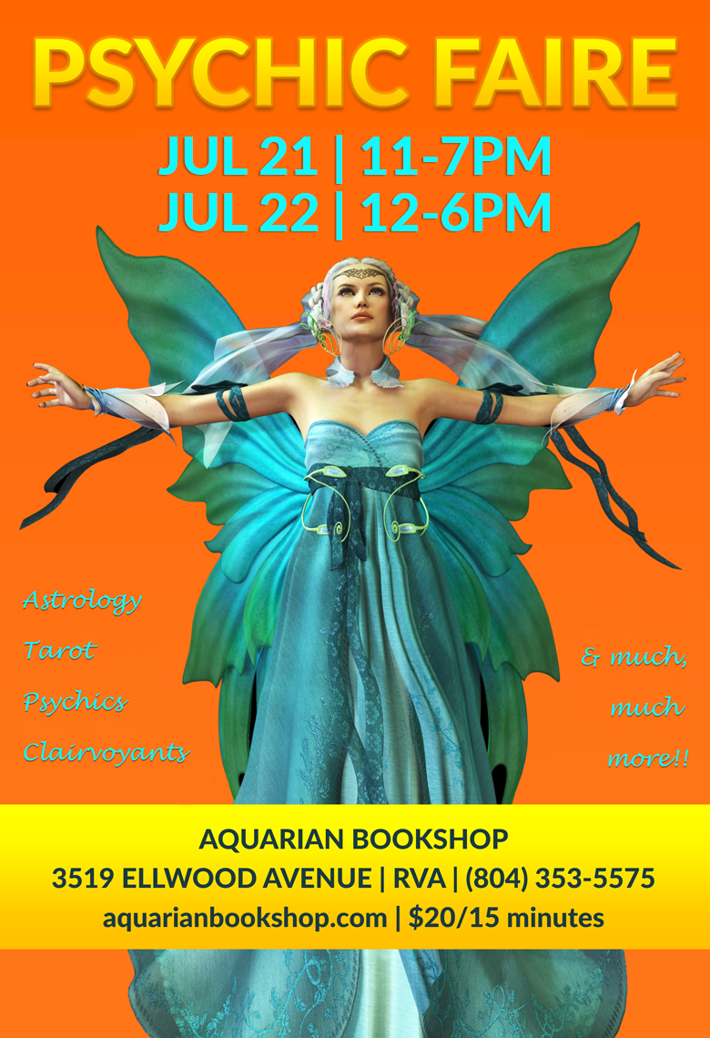Aquarian Psychic Faire | July 21-22, 2018