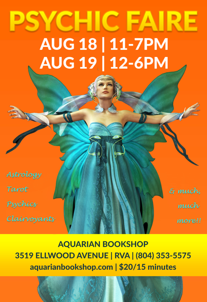 Psychic Faire August 18 & 19 2018