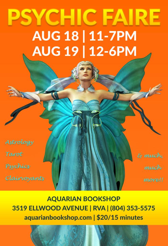 Psychic Faire August 18 & 19 2018