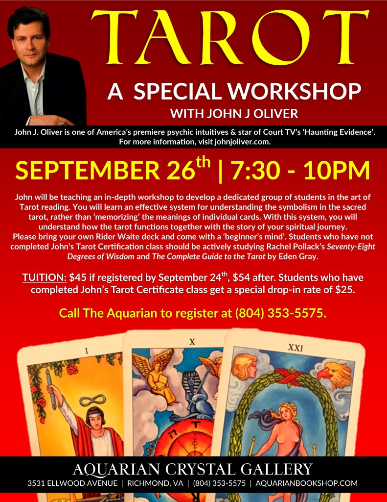Tarot Workshop with John J Oliver