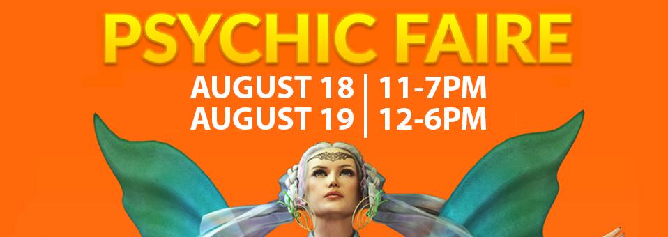 Aquarian Psychic Faire - August 18 & 19, 2018