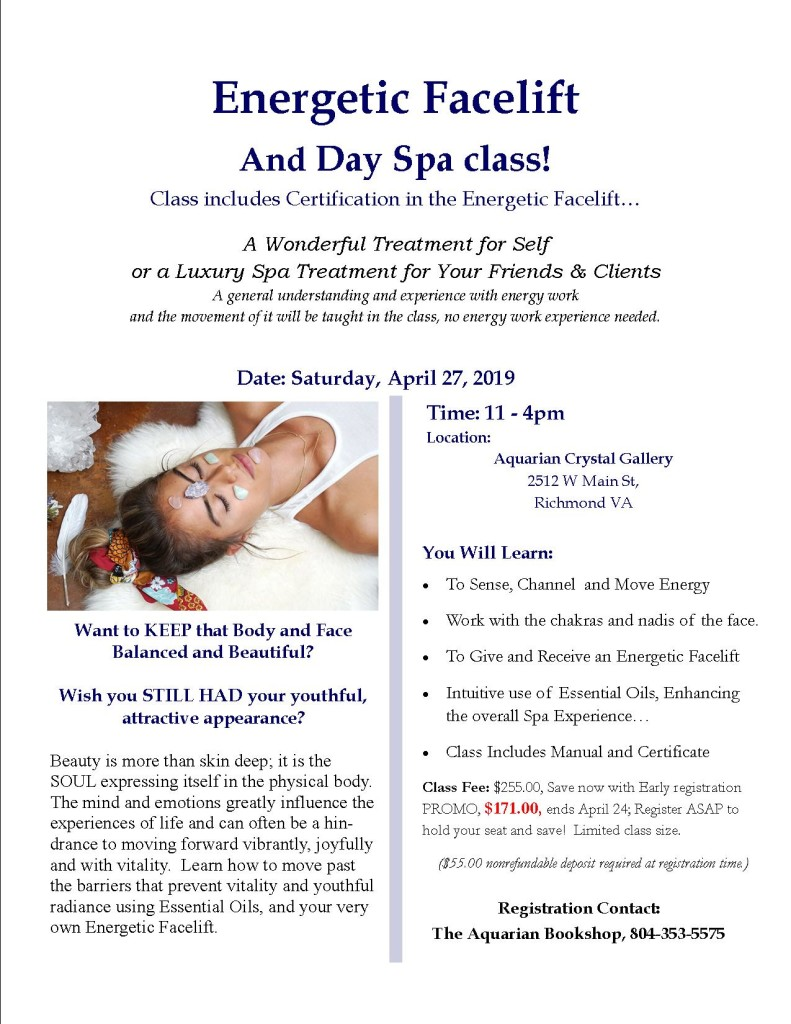 Energetic Facelift Day Spa Class Flier 2019 (1)