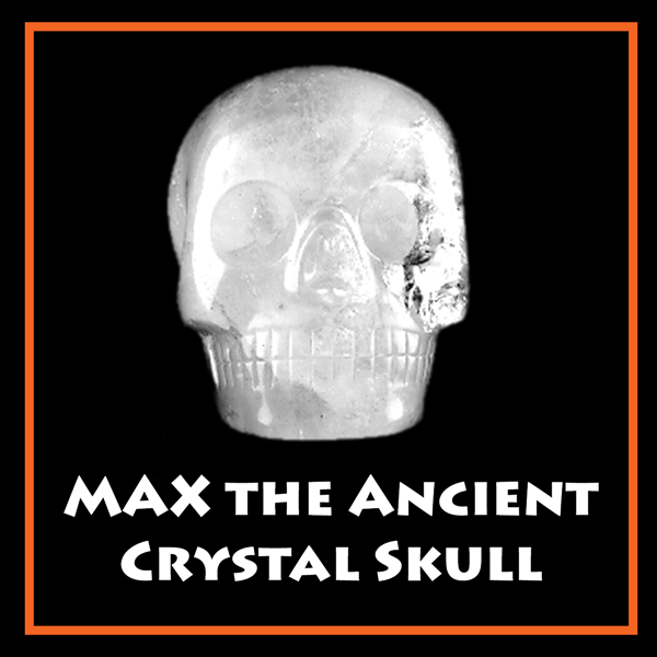 Photo of large clear quartz skull Max the Ancient Crystal Skull