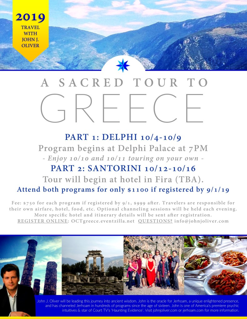 A Sacred Tour to Greece October 2019