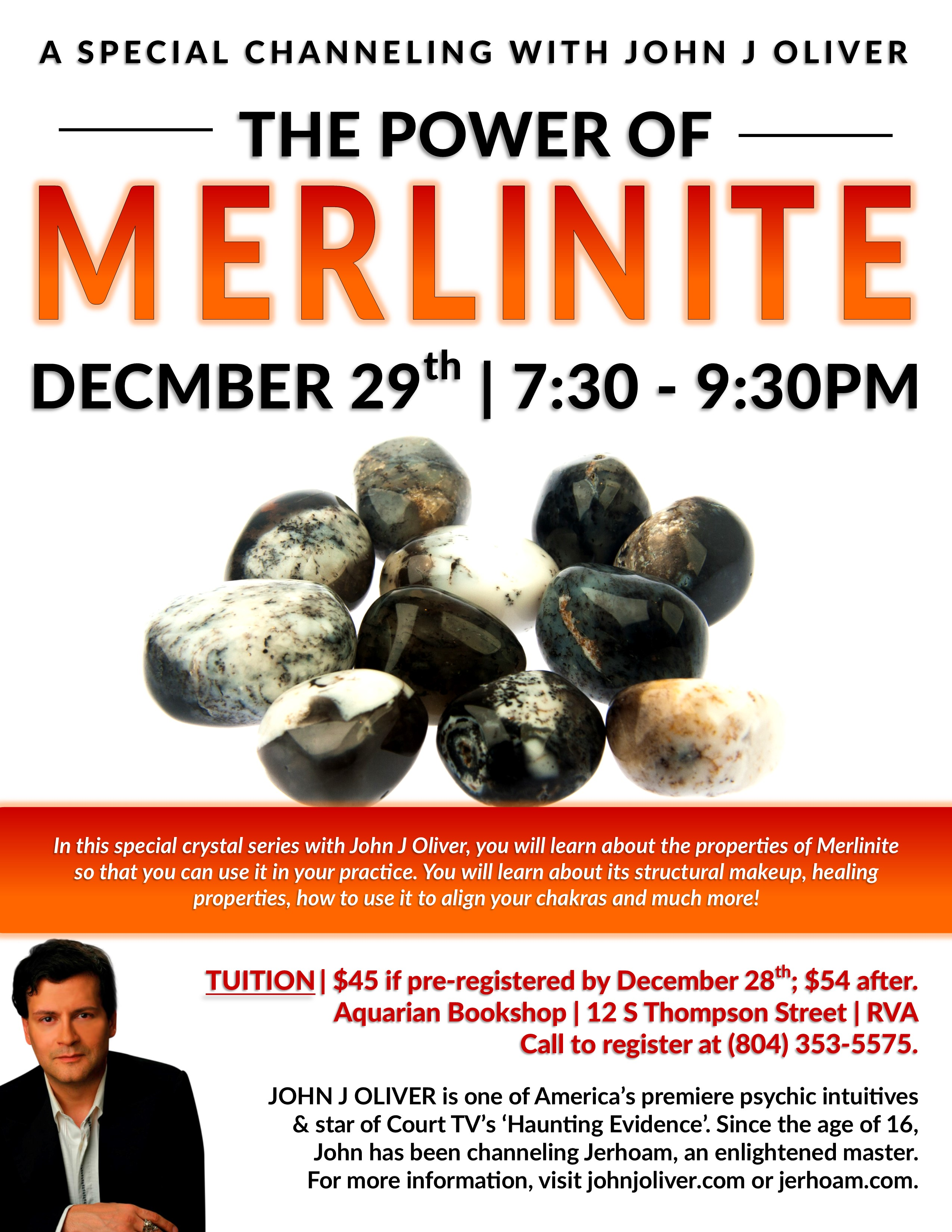 The Power of Merlinite | December 29, 7:30-9:30pm