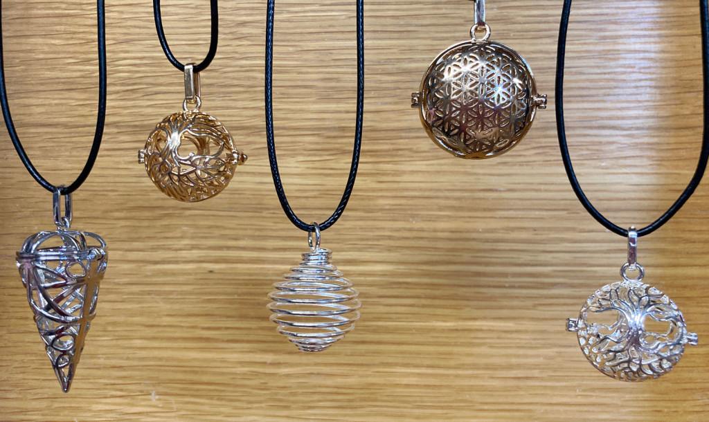 Crystal Cage Necklaces