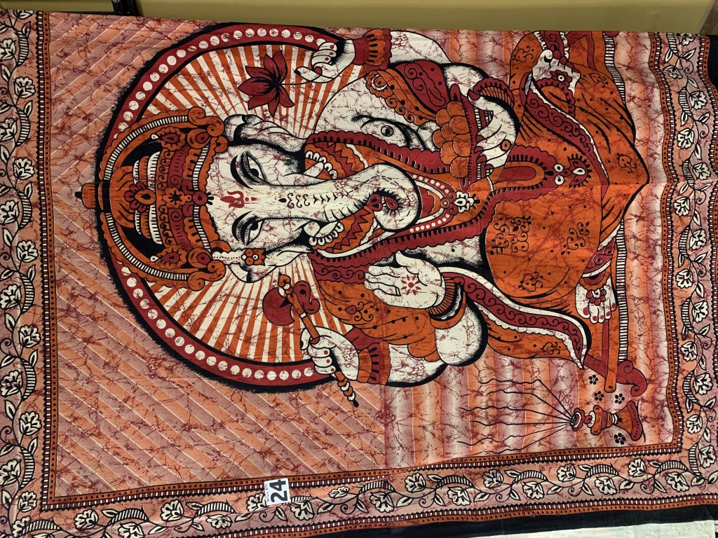Orange, Red, Black & Cream Ganesha Tapestry