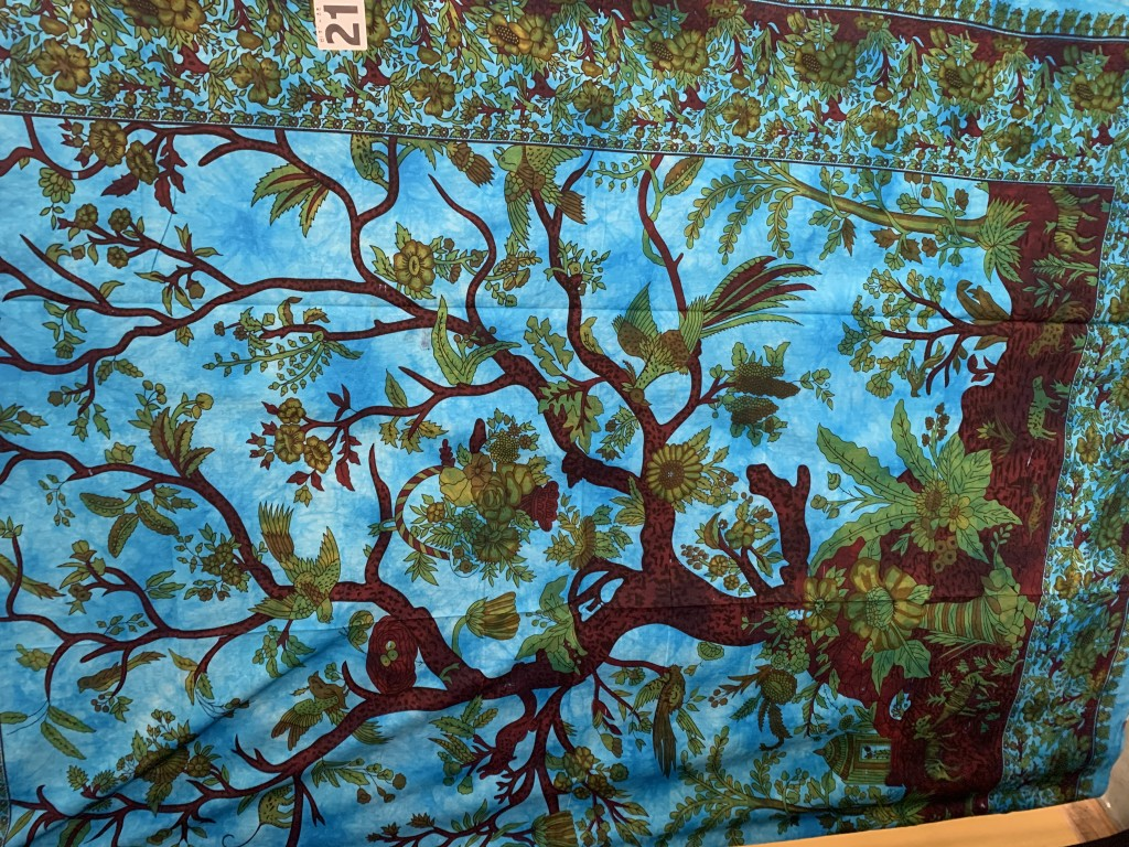 Indian Tree with Wildlife Tapestry