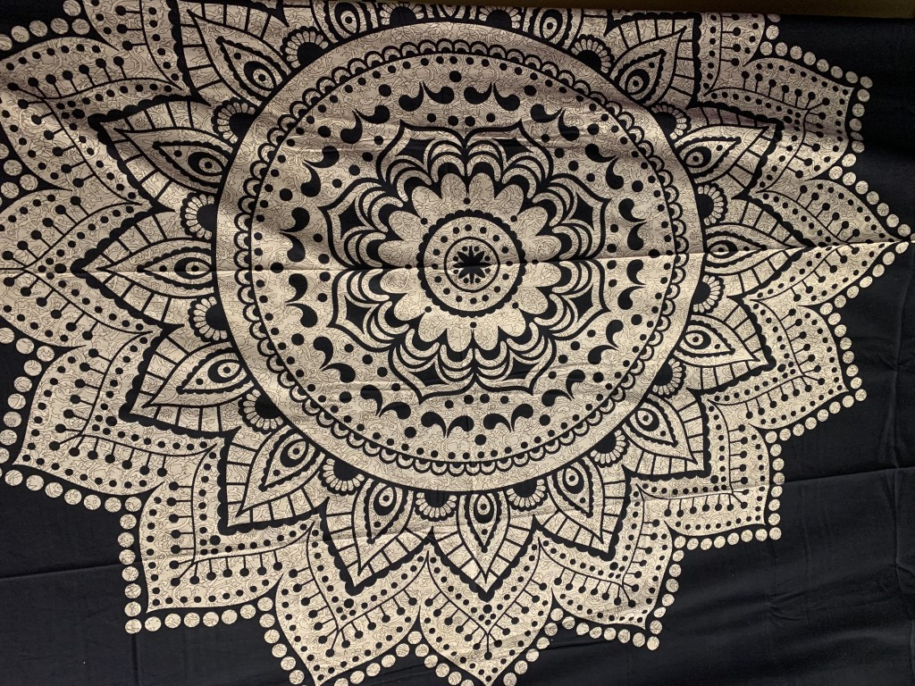 Black and Tan Mandala