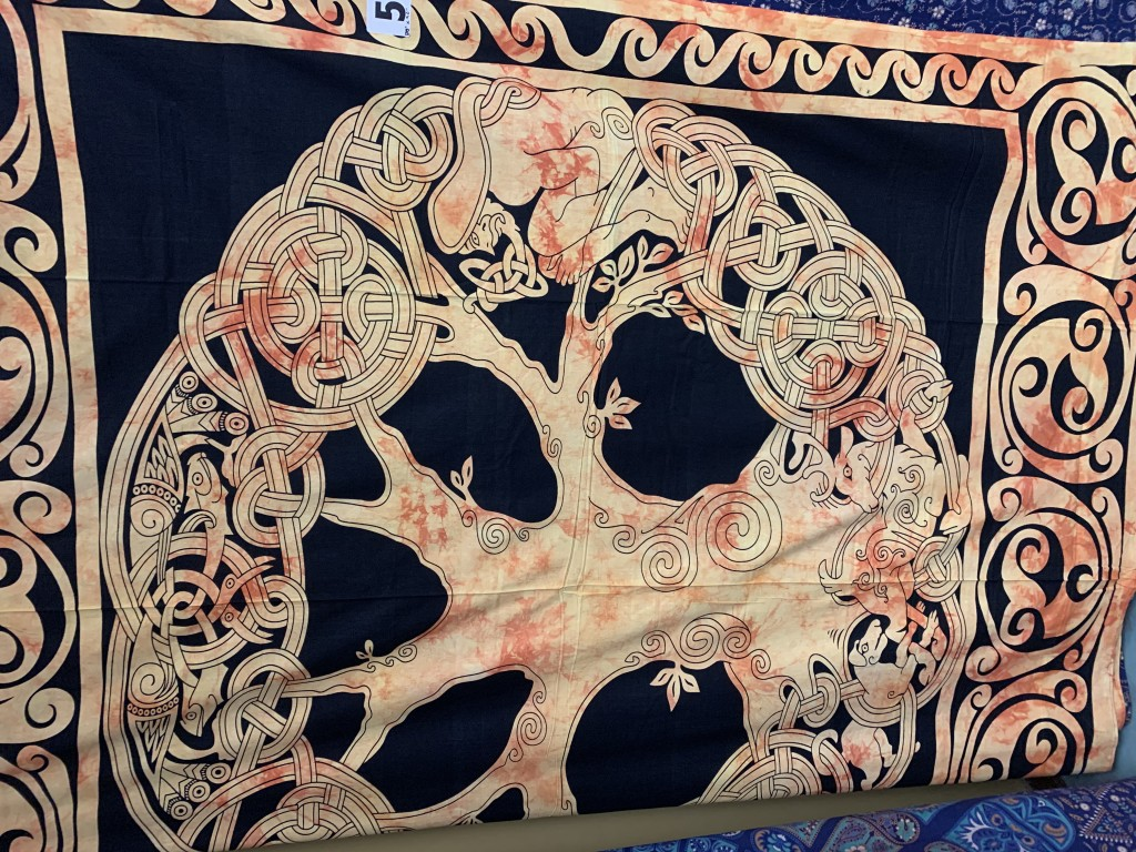 Orange and Black Celtic Tree of Life