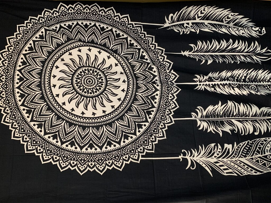 Dreamcatcher Mandala with Feathers Wall Tapestry #25