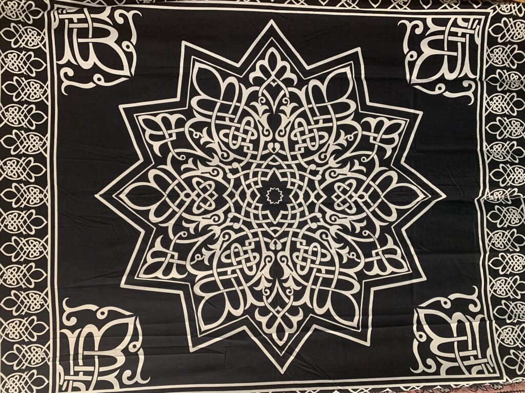 Black and White Woven Star Wall Tapestry