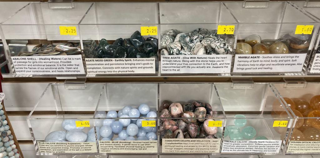 abaloneshell-marbleagate-bluecalcite-emeraldcalcite