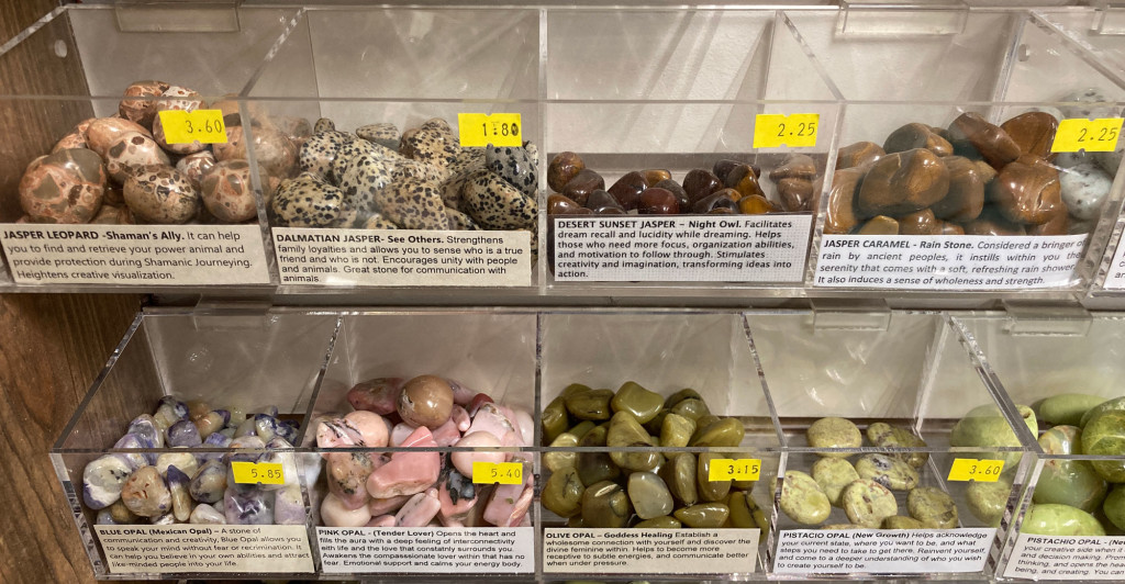 leopardjasper-carameljasper-blueopal-pistachioopal