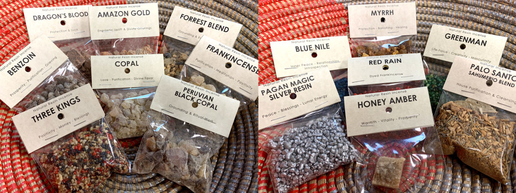 Resin Incense in 1oz bags