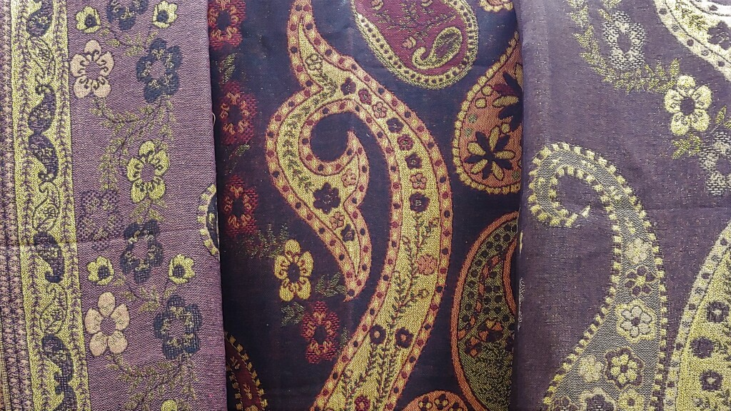 1 - Gold-Trimmed floral Paisley