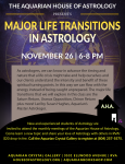 Aquarian House of Astrology Presents Major Life Transitions in Astrology